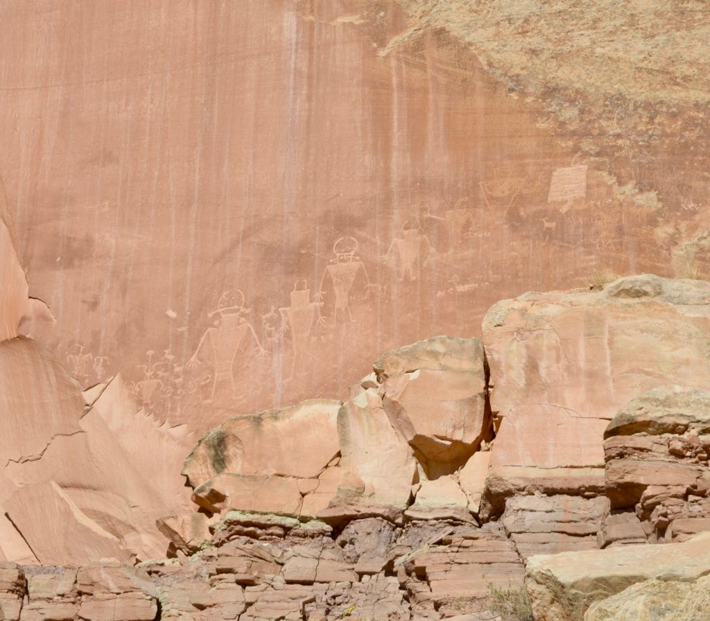Petroglyphs in Capitol Reef National Park.