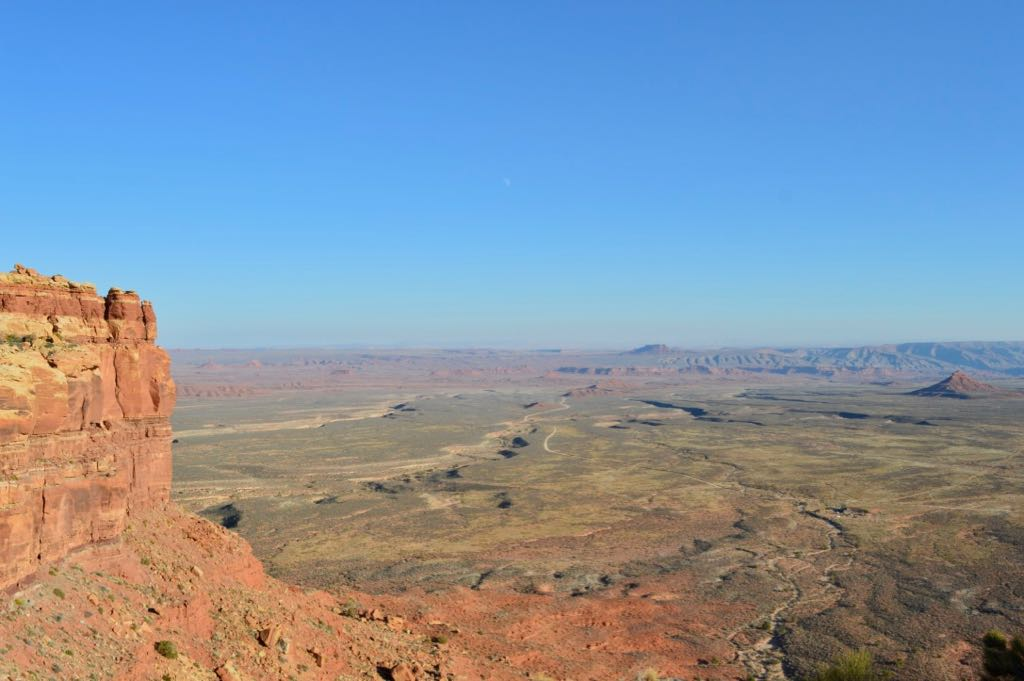 Moki Dugway view of Valley of the Gods